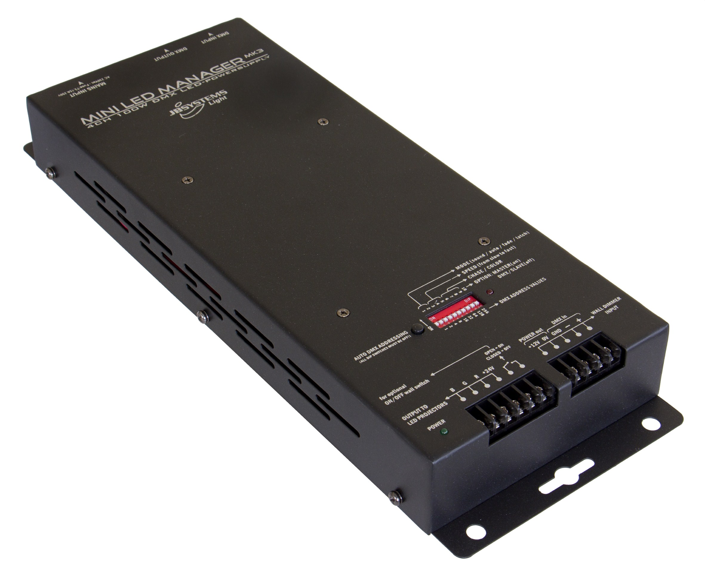 Jb Systems Mini Led Manager Mk3 Controller And Psu The Dmx Power Over Cat5 System Is Not To Be Confused With