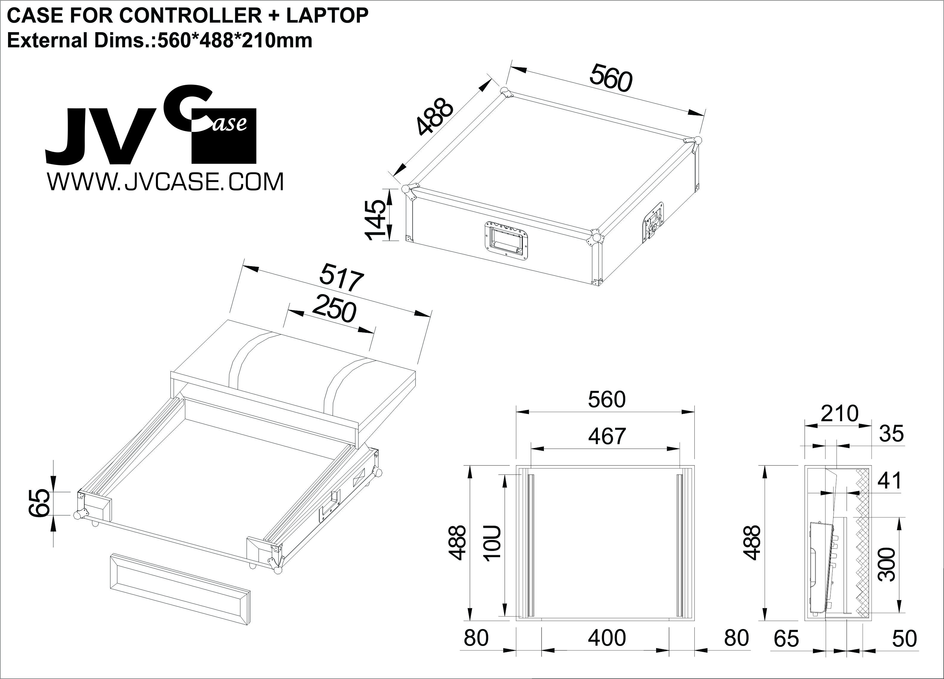 jb systems - case for controller   laptop
