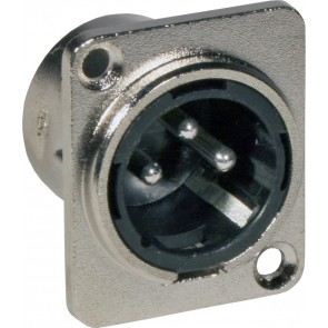 XLR male CHASSIS D-SIZE