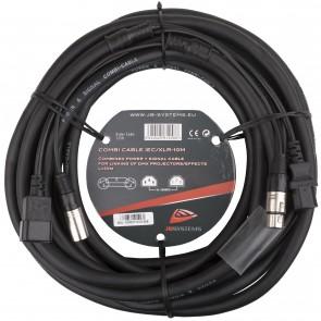 COMBI CABLE IEC/XLR 10M