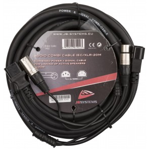 AUDIO COMBI CABLE IEC/XLR-20M