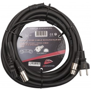 AUDIO COMBI CABLE SCHUKO/XLR-5M