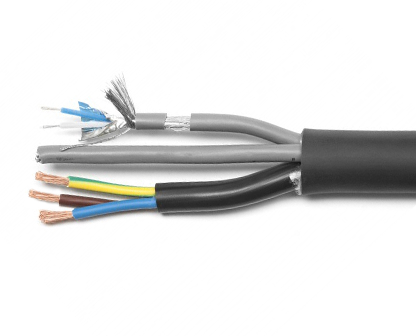 Combined power + signal cable (3x2.5mm-¦ + 2x 2x0.34mm-¦)