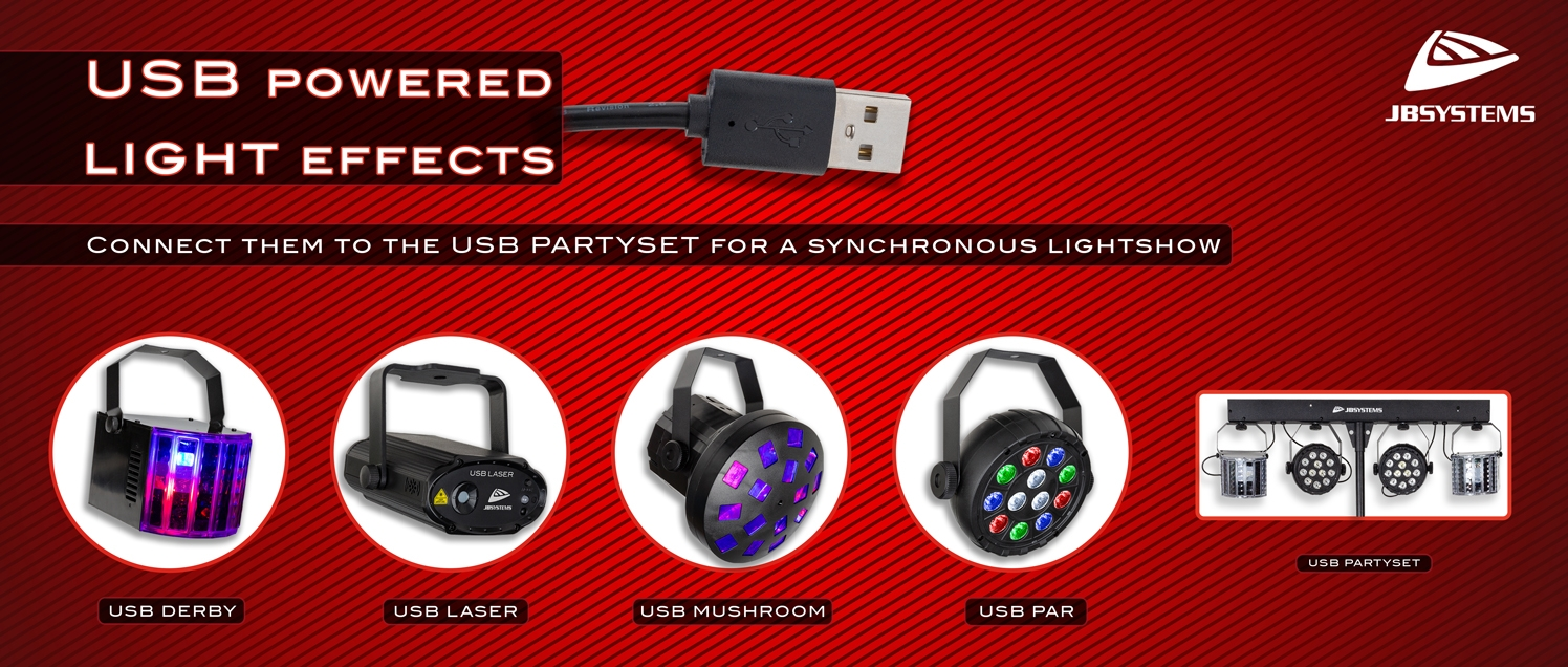JB SYSTEMS USB powered light effects