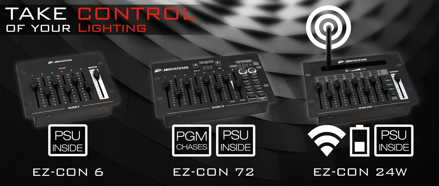 JB SYSTEMS : New DMX Controllers