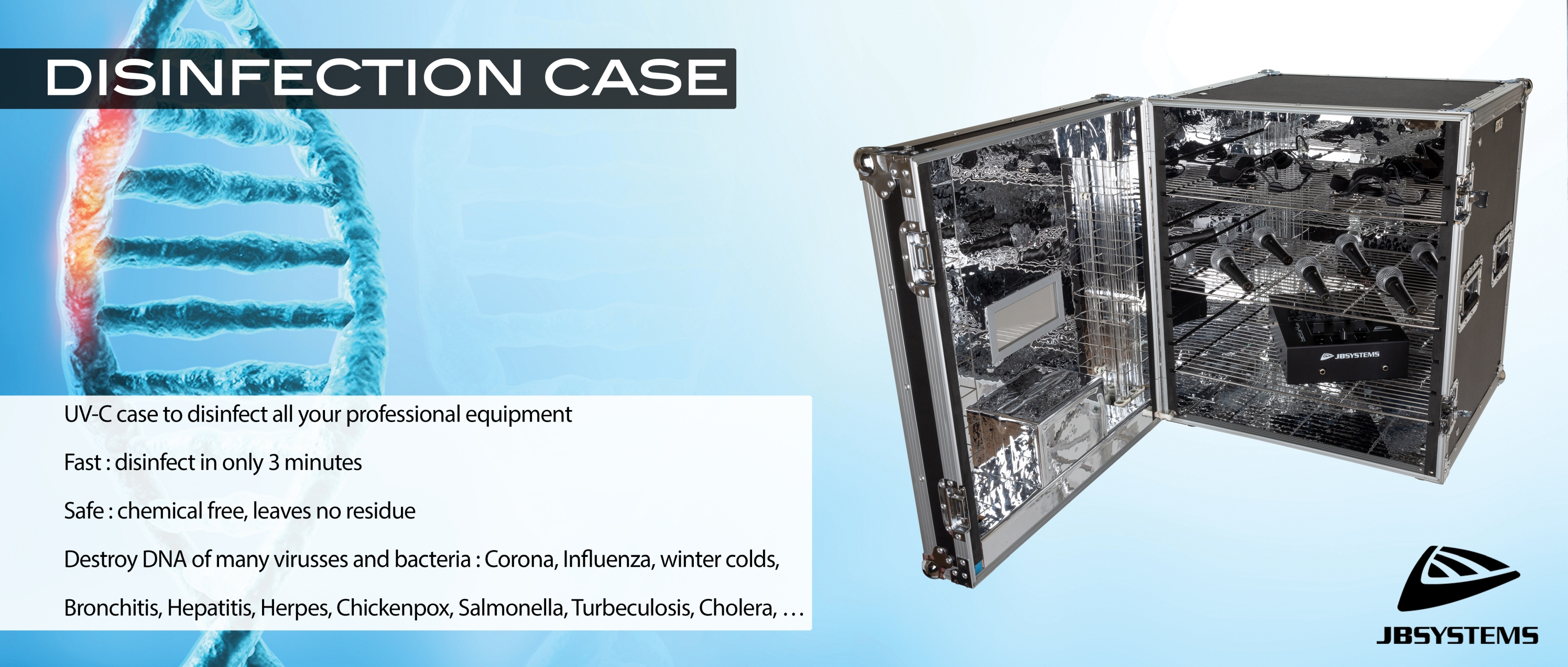 JB SYSTEMS : DISINFECTION CASE